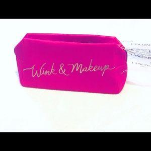 Lancôme Wink & Makeup cosmetic case -hot pink